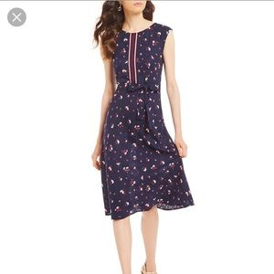 NWT Joules navy floral cap sleeve Lucinda dress